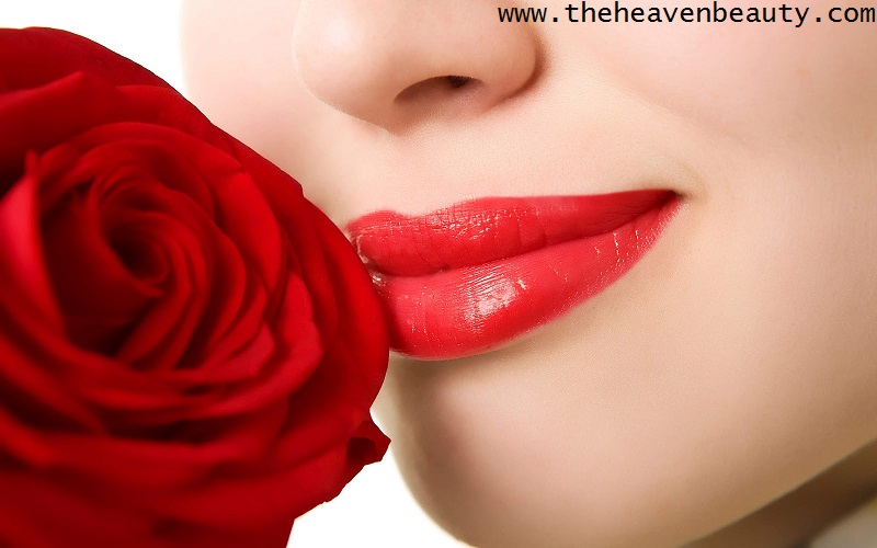 Rose and milk for dry and chapped lips