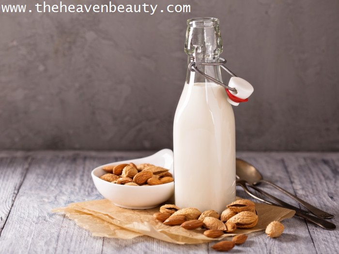 Almond milk for fine lines and wrinkles