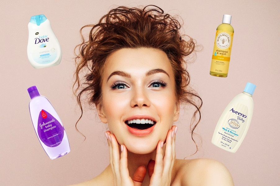 Baby shampoo as a face wash for adults